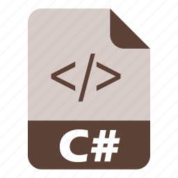c-sharp, coding, csharp, extension, file, language, programming icon