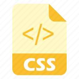 coding, css, extension, file, styling icon