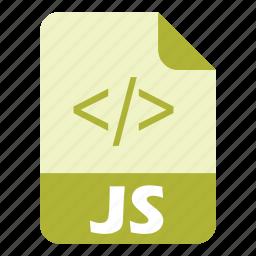 coding, extension, file, javascript, language, programming icon