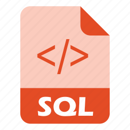coding, extension, file, sql icon