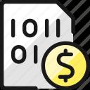 file, code, cash