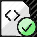 file, code, check
