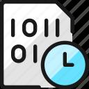 file, code, clock