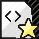 code, file, star