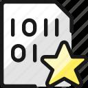 file, code, star