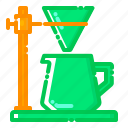coffee, cone, equipments, filter, machine, shop, business icon