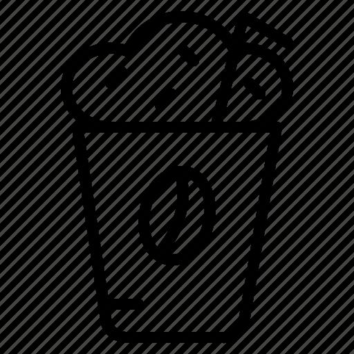 coffee, cup, drink, mocha, shop icon