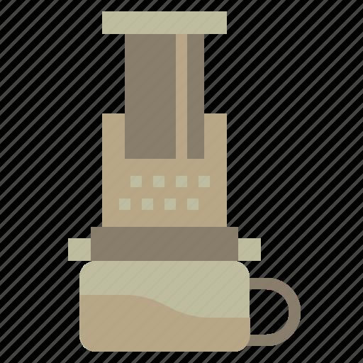 aeropress, coffee, drink, food, hot, kettle, pot icon