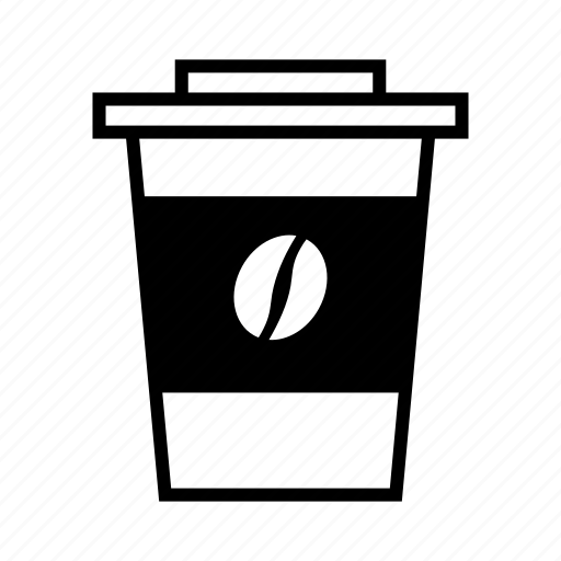 bean, coffee, coffee to go, cup, paper beaker icon