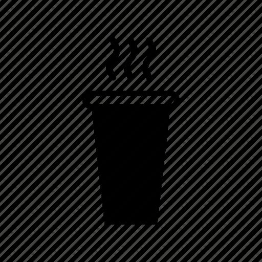 beaker, coffee, coffee to go, hot, paper beaker, tea icon