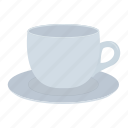 coffee, cup, drink, saucer icon