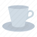coffee, cup, dishes, drink, saucer icon