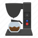 cafe, coffee, machine, maker, teapot, technology icon