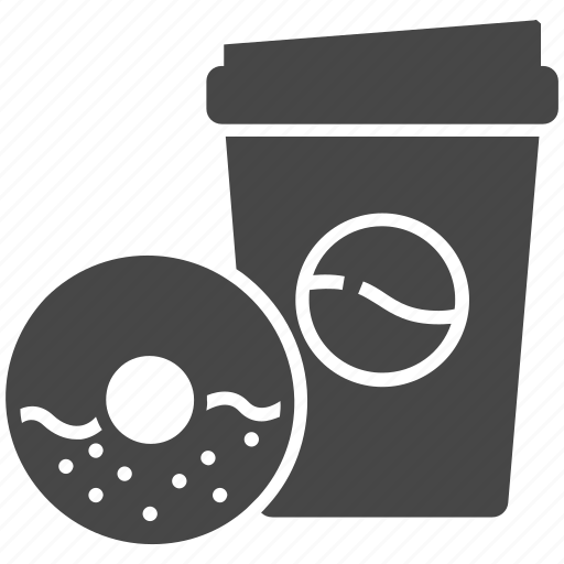 Coffee, cup, donut, drink icon - Download on Iconfinder