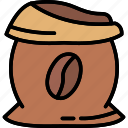 bags of coffee, coffee, coffee beans, coffee grounds, espresso, raw coffee