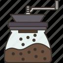 coffee, crusher, grinder, bean, cafe