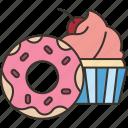 coffee, dessert, snack, sweet, appetizer