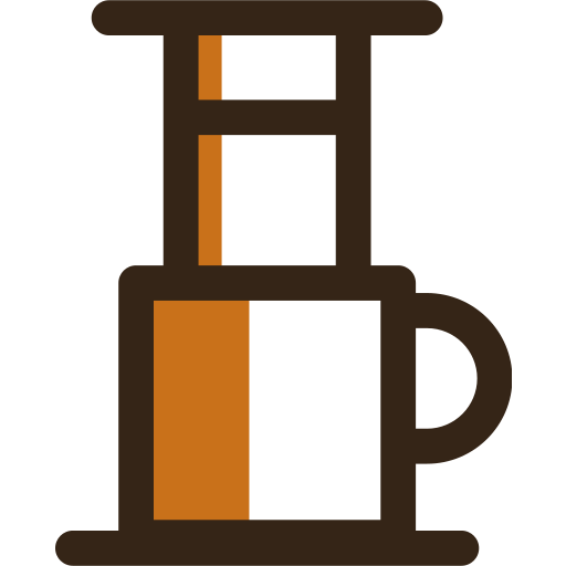 aeropress, beverage, cafe, coffee, cup, drink, hot icon