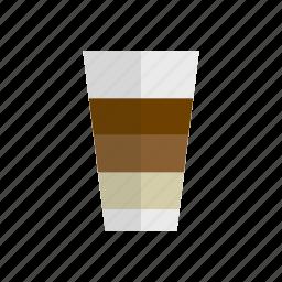 beverage, cafe latte, coffee, drink, latte, milk icon