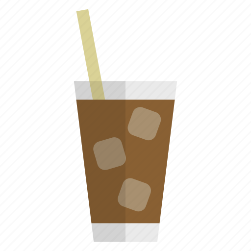 beverage, coffee, cold, drink, ice coffee, refreshment, summer icon