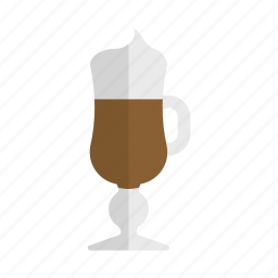 coffee, drink, espresso, hot drink, irish coffee, vienna coffee icon