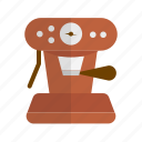 coffee, coffee machine, coffee maker, espresso, preparation, retro icon