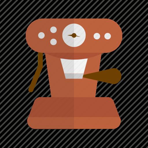 coffee, coffee machine, coffee maker, espresso, preparation, retro icon