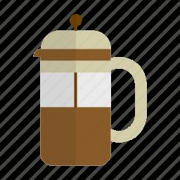 cafe, caffeine, coffee, espresso, french press, preparation icon
