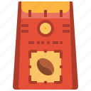 arabica, bag, beans, blend, coffee, robusta icon