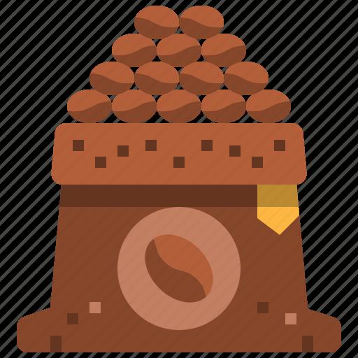 arabica, bag, beans, blend, coffee, robusta, seed icon