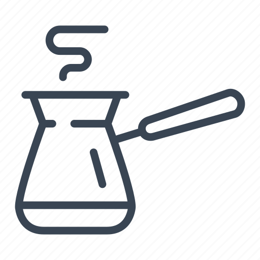 coffee, maker, pot, turkish icon
