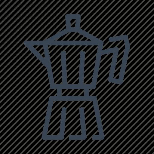 coffee, italian, maker, percolator icon