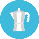 barista, brew, coffee, drink, hot, jar, moka pot icon