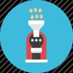 barista, bean, coffee, drink, hot, machine, roast icon