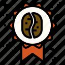 bean, coffee, reward, taste, winner icon