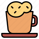 cappuccino, coffee, cup, drink, hot icon
