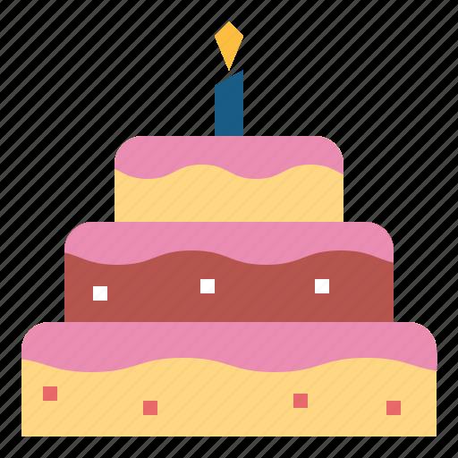 Bakery Birthday Cake Food Icon