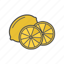 citrus, fruit, lemon, lime, tropical icon