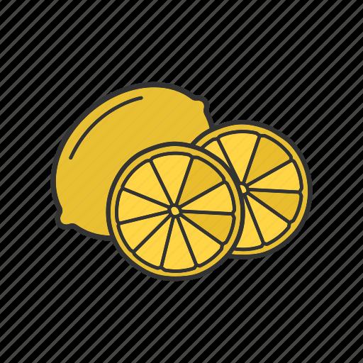 citrus, fruit, lemon, lime, tropical icon