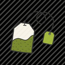 bag, ceylon, label, tea, teabag icon