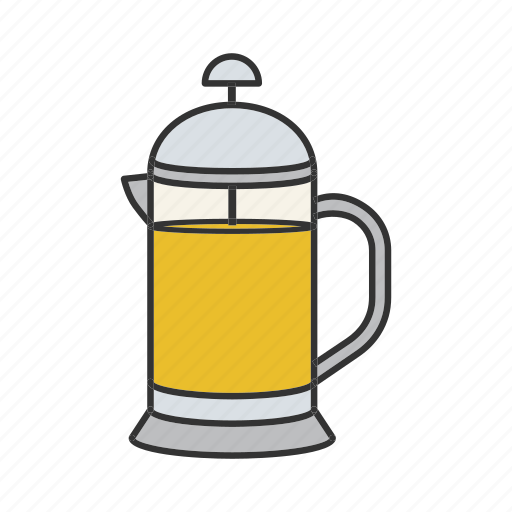 french press, kettle, pot, press, tea, teakettle, teapot icon