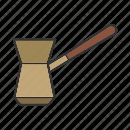 brewer, cezve, coffeemaker, ibrik, jezve, turk, utensil icon