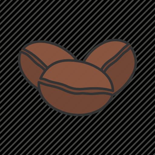 beans, caffeine, coffee bean, grain, seed icon