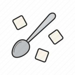 cutlery, spoon, sugar, tea, teaspoon, tsp icon