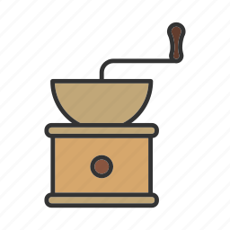coffee, grinder, grinding, mill, milling icon