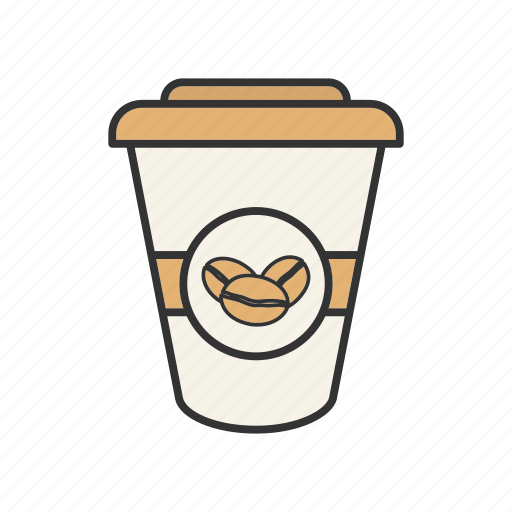 coffee to go, drink, paper glass, take-out coffee, takeaway, takeout, tea to go icon