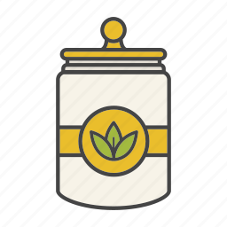 bowl, can, container, cover, jar, lid icon