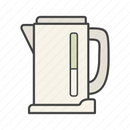 electric, kettle, pot, tea, teakettle, teapot icon