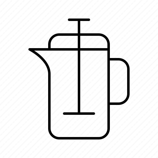 bar, coffee, coffein, french, pot, press, restaurant icon