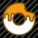 bakery, bread, breakfast, donut icon